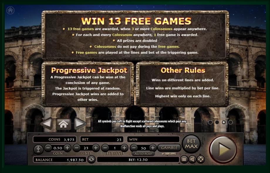 roman empire slot machine detail image 1
