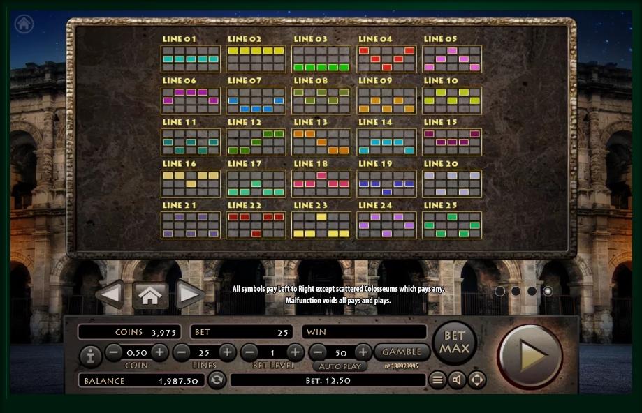 roman empire slot machine detail image 0