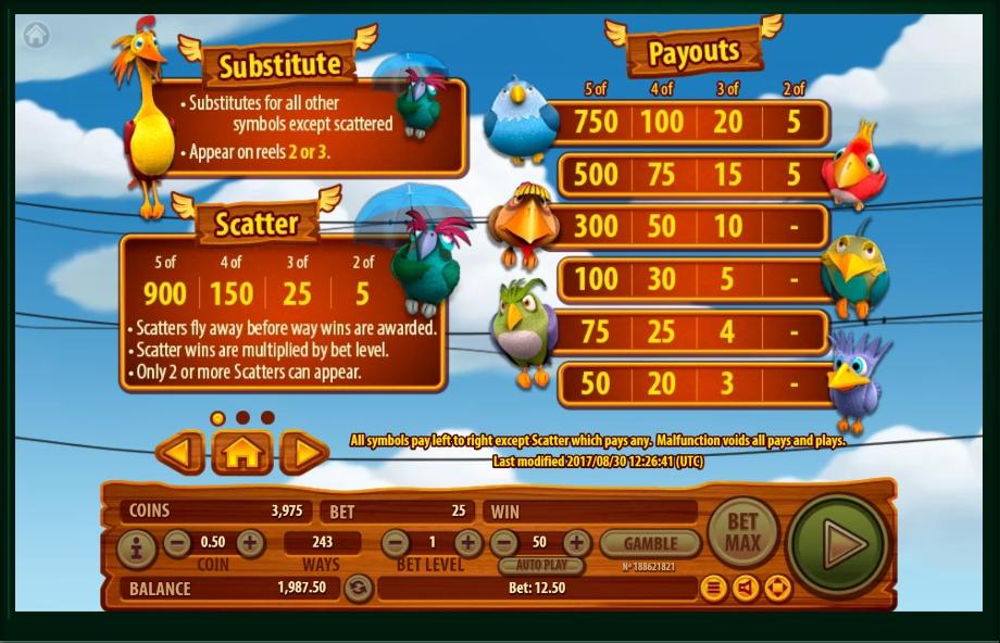 ruffled up slot machine detail image 2