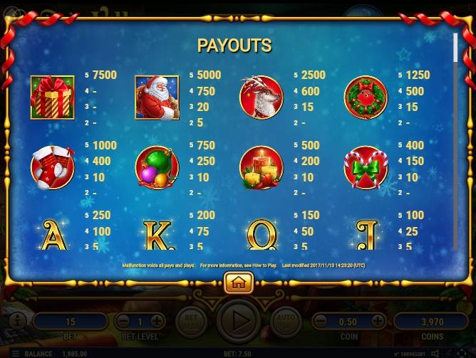 santa's village slot machine detail image 7