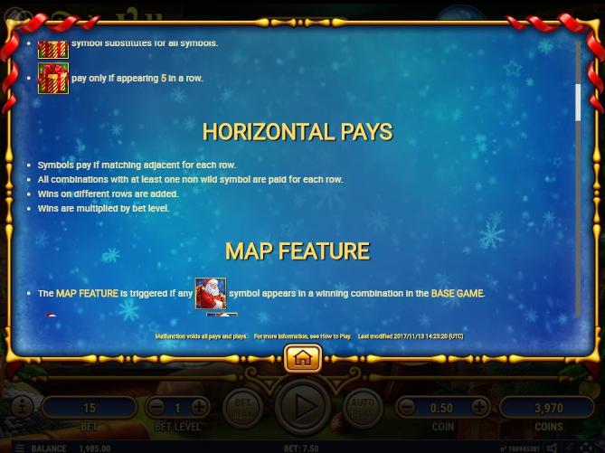 santa's village slot machine detail image 6