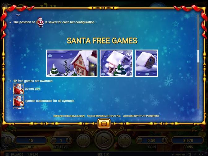 santa's village slot machine detail image 4