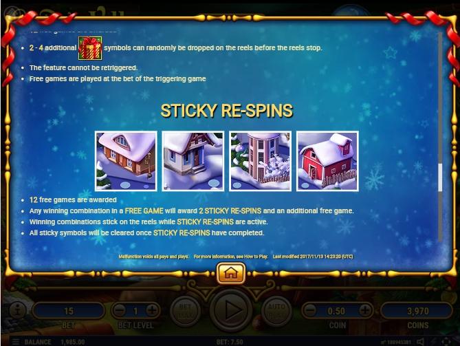 santa's village slot machine detail image 2