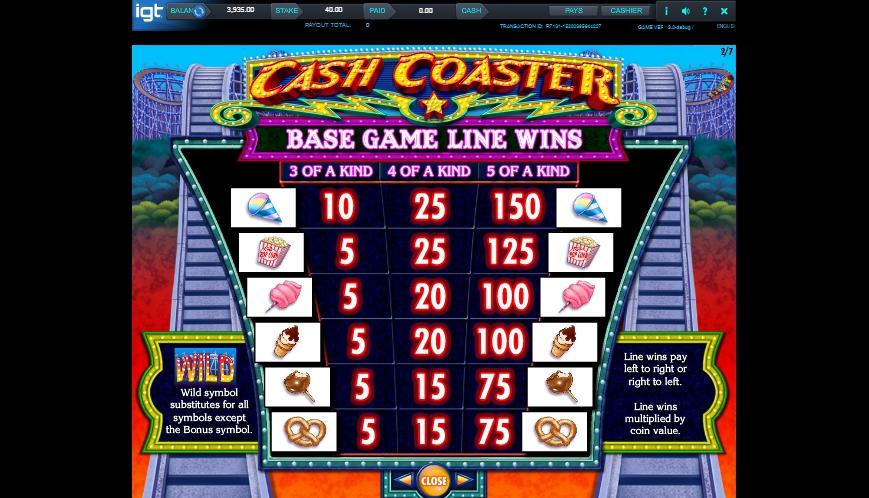 Cash coaster igt casino slots Gülşehir