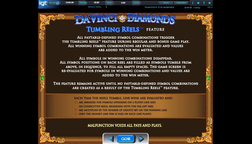 da vinci diamonds slot machine detail image 5