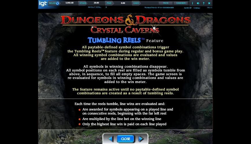 dungeons and dragons: crystal caverns slot slot machine detail image 5
