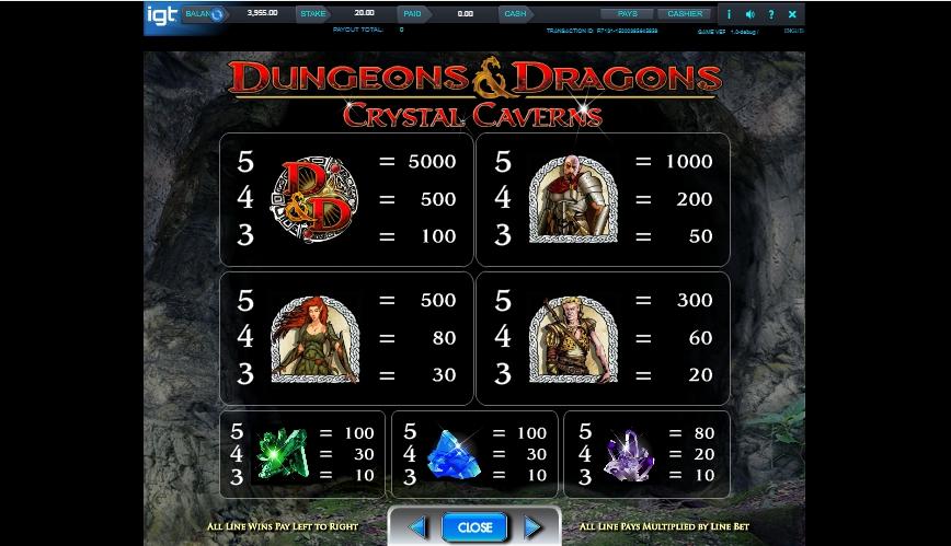 dungeons and dragons: crystal caverns slot slot machine detail image 4