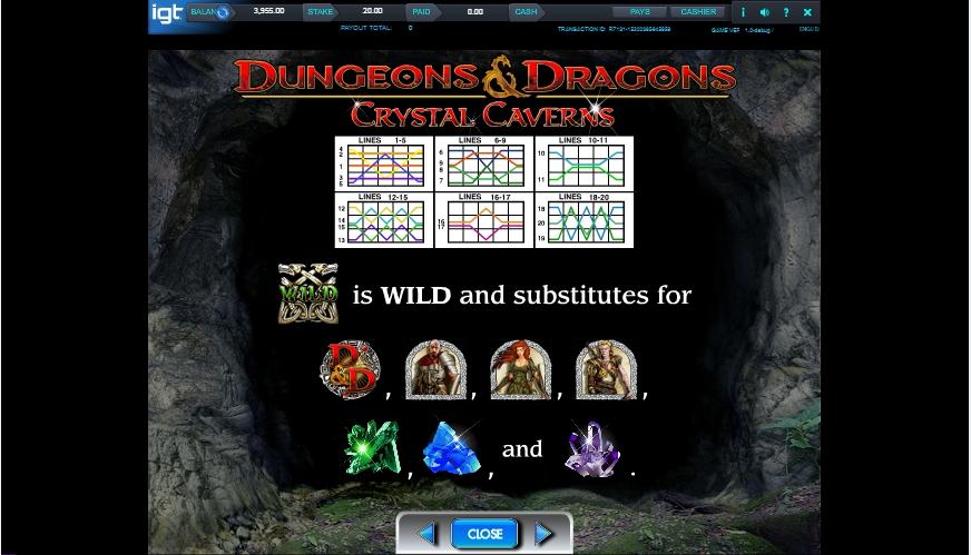 dungeons and dragons: crystal caverns slot slot machine detail image 3