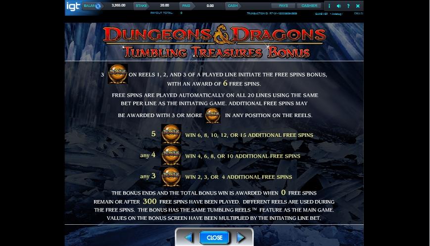 dungeons and dragons: crystal caverns slot slot machine detail image 2