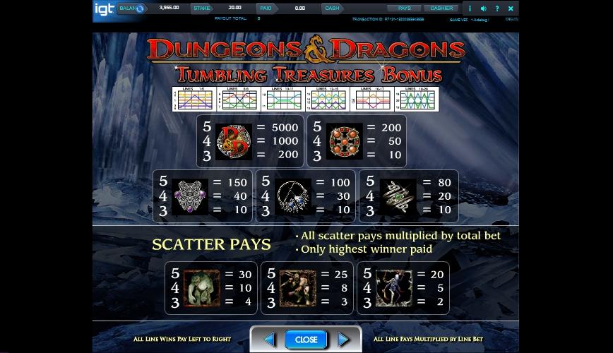 dungeons and dragons: crystal caverns slot slot machine detail image 1
