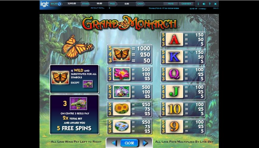 grand monarch slot machine detail image 3