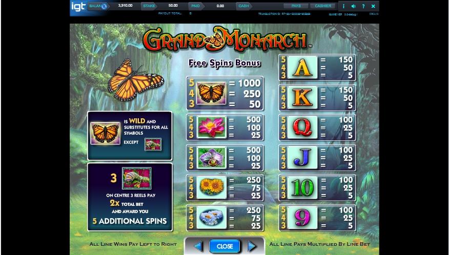 grand monarch slot machine detail image 2