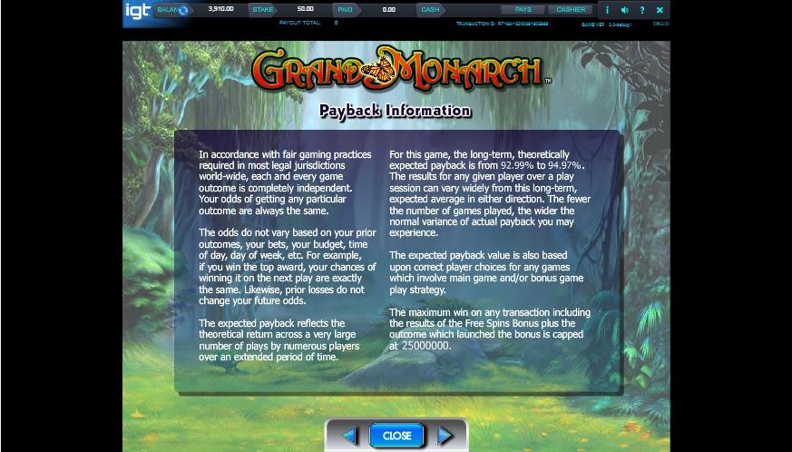 grand monarch slot machine detail image 0