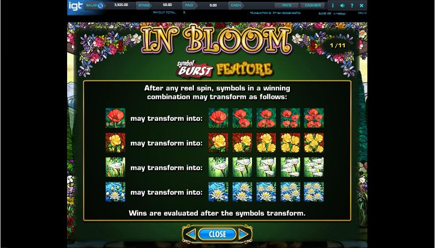 in bloom slot machine detail image 10