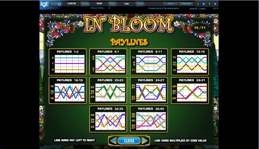 in bloom slot machine detail image 9
