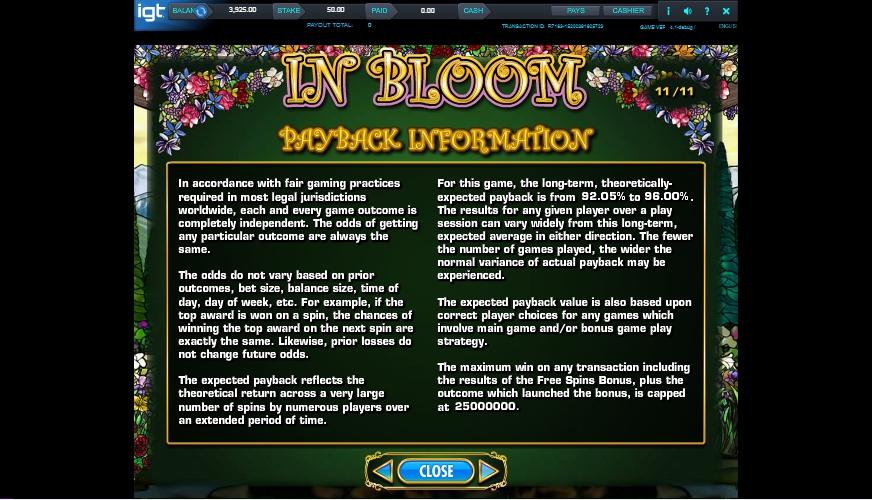 in bloom slot machine detail image 8