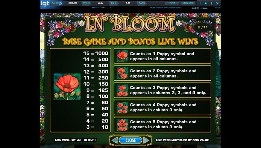 in bloom slot machine detail image 7