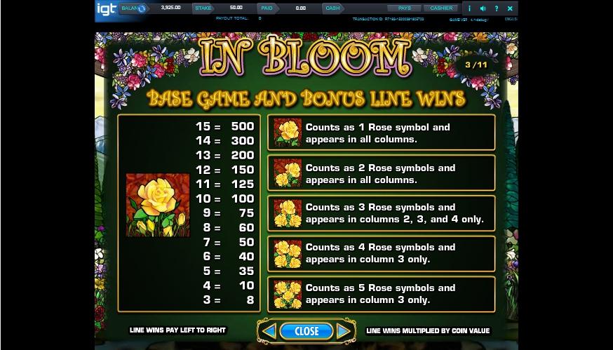 in bloom slot machine detail image 6