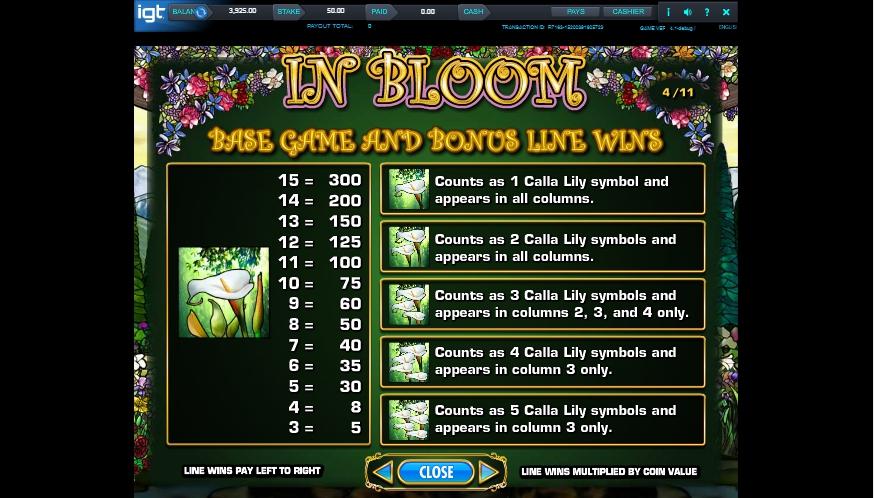 in bloom slot machine detail image 5