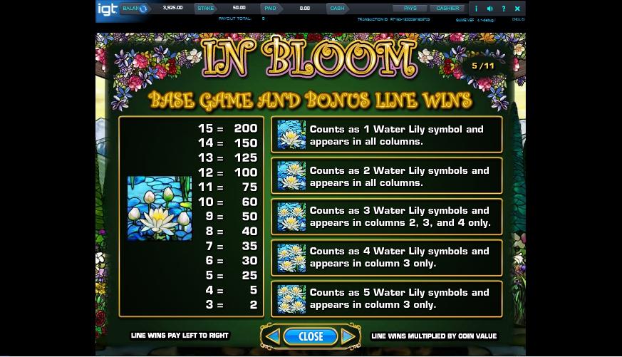 in bloom slot machine detail image 4