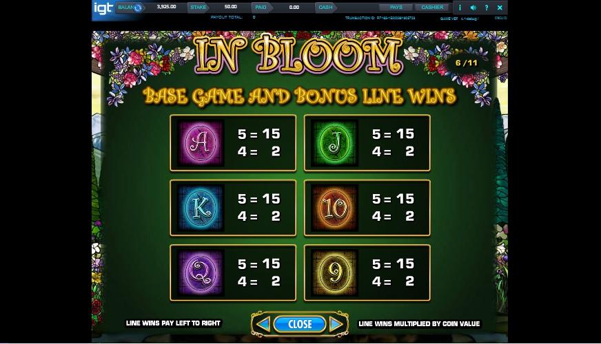 in bloom slot machine detail image 3