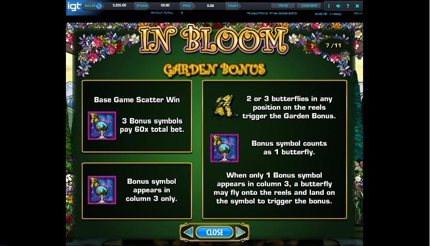 in bloom slot machine detail image 2