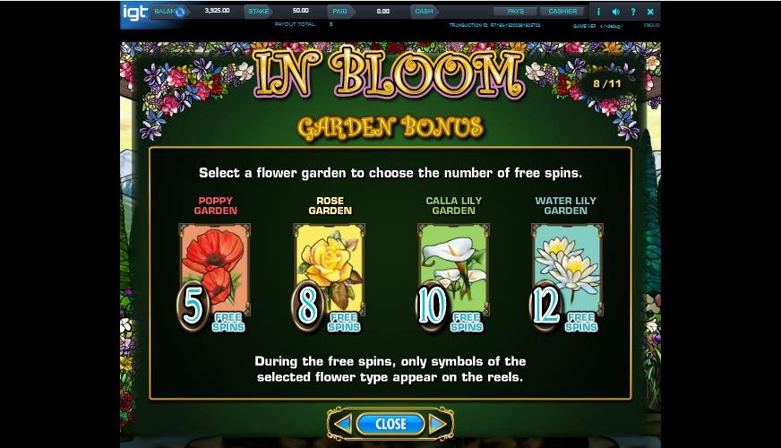 in bloom slot machine detail image 1