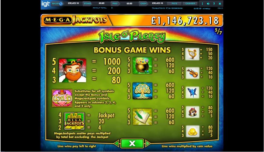 isle o' plenty slot machine detail image 2