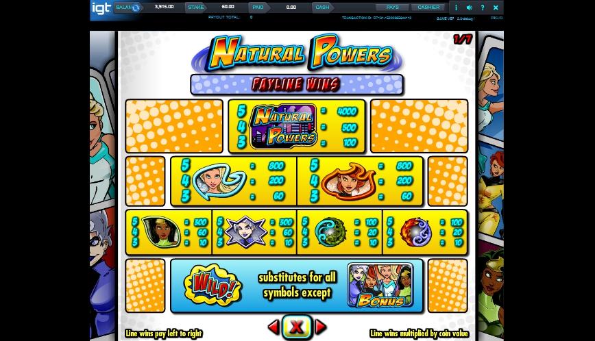 natural powers slot machine detail image 6