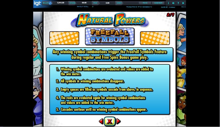 natural powers slot machine detail image 5