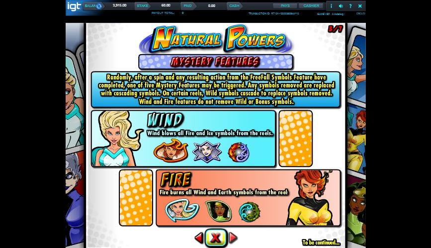 natural powers slot machine detail image 4
