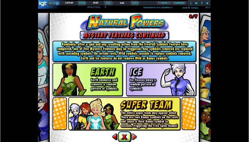 natural powers slot machine detail image 3
