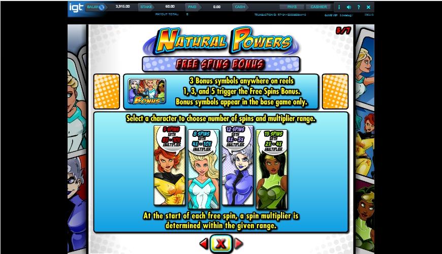 natural powers slot machine detail image 2