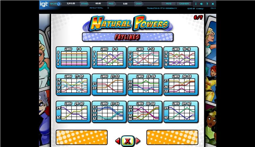 natural powers slot machine detail image 1