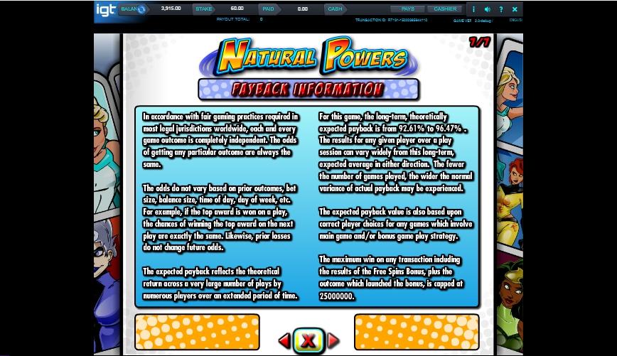 natural powers slot machine detail image 0