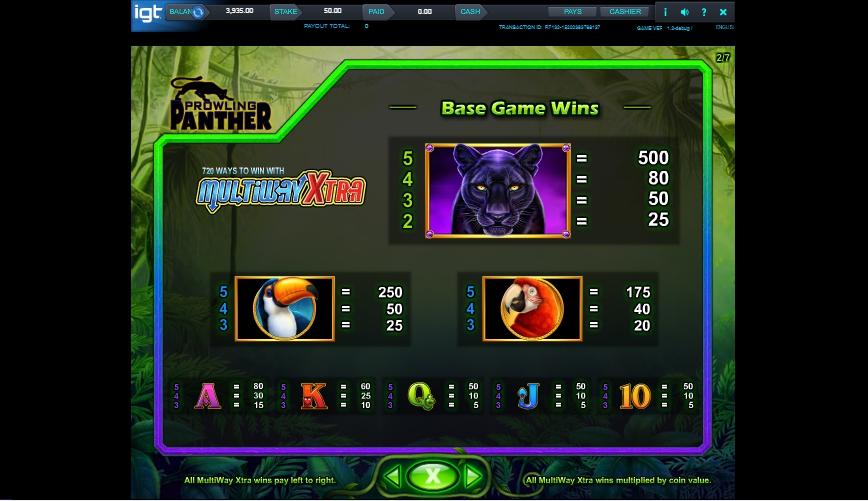 prowling panther slot machine detail image 5