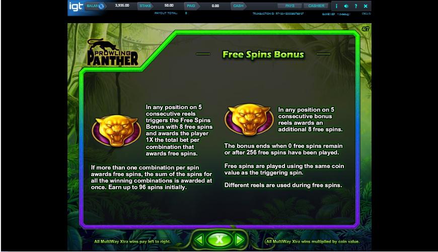 prowling panther slot machine detail image 3