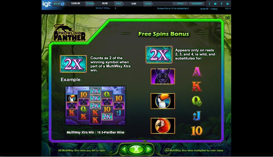 prowling panther slot machine detail image 1