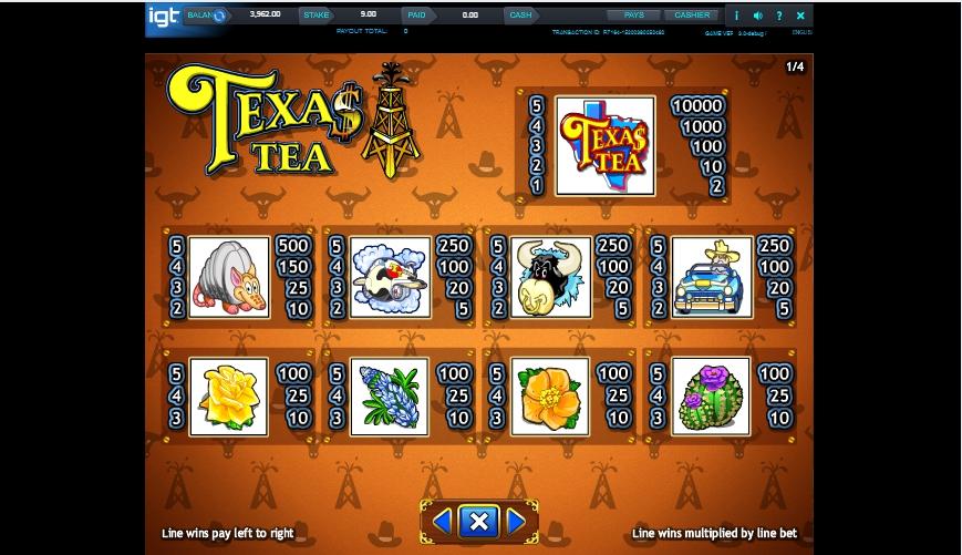 texas tea slot machine detail image 3