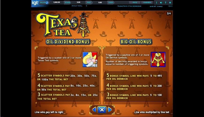 texas tea slot machine detail image 2