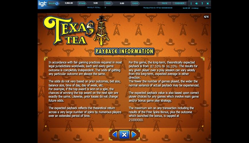 texas tea slot machine detail image 0