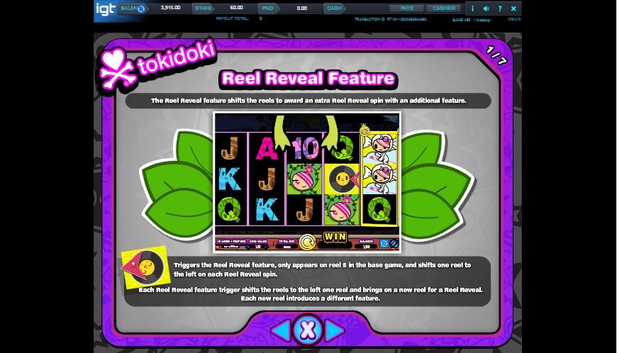 tokidoki lucky town slot machine detail image 6