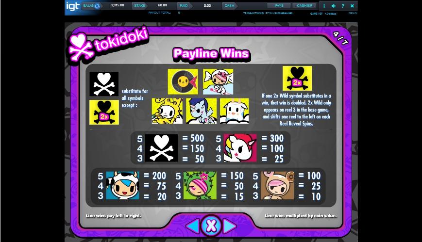 tokidoki lucky town slot machine detail image 3