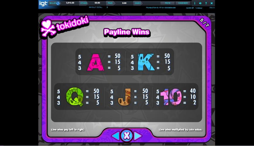 tokidoki lucky town slot machine detail image 2