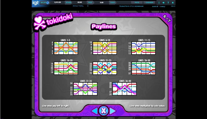 tokidoki lucky town slot machine detail image 1