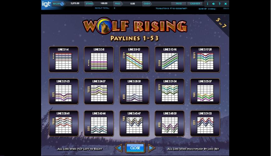 wolf rising slot machine detail image 2