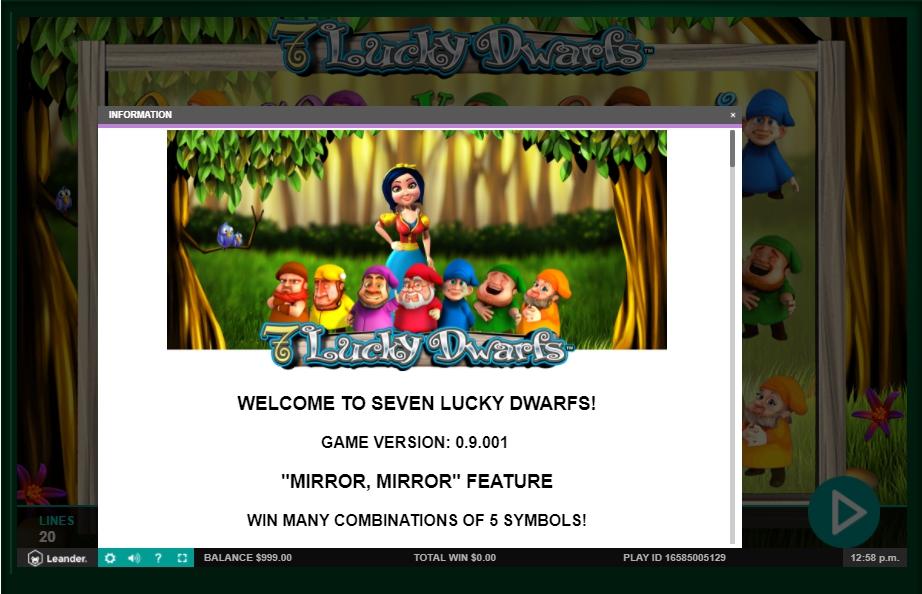 7 lucky dwarfs slot machine detail image 10
