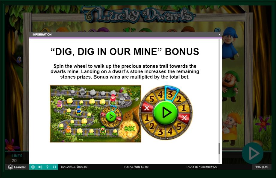 7 lucky dwarfs slot machine detail image 9