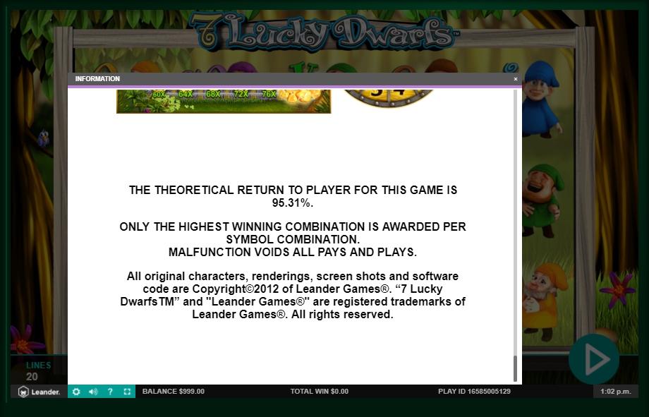 7 lucky dwarfs slot machine detail image 8