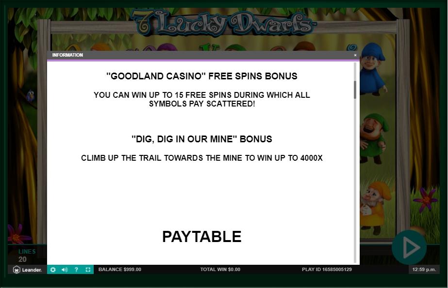 7 lucky dwarfs slot machine detail image 7